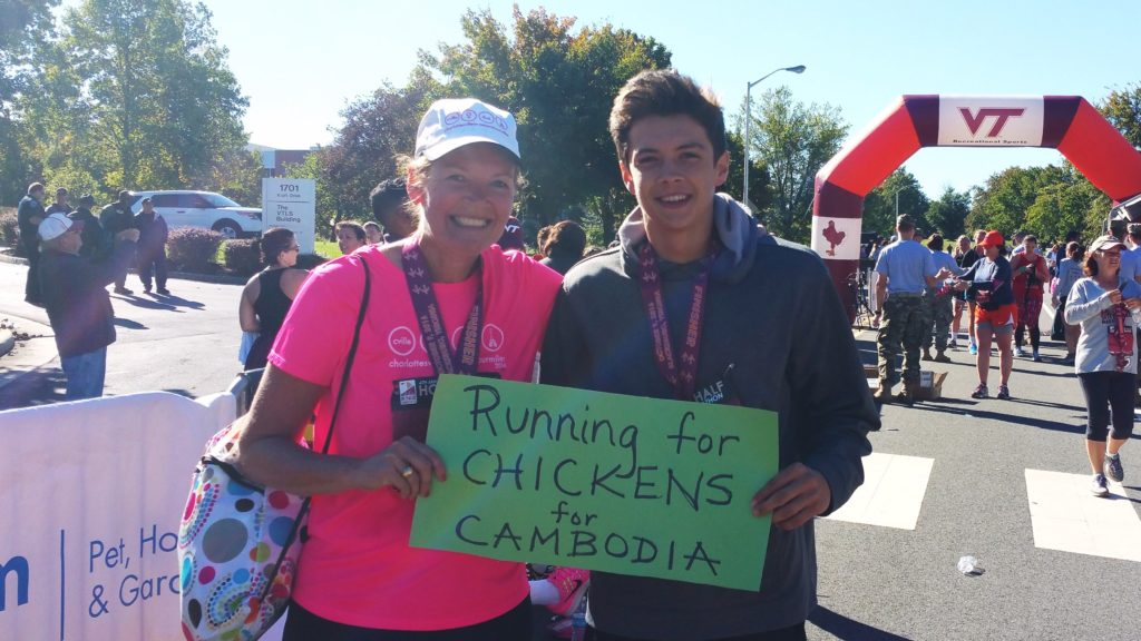 running for chickens, race to fund a microbusiness